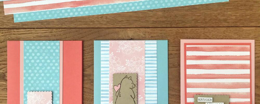 einfache Karten mit Stampin' Up! Designpapier